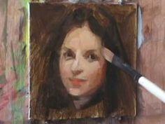"""Yuehua He oil painting """"Portrait"""""""