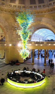 The Murano Glass Chandelier at the Victoria and Albert Museum, London