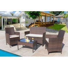 Sol 72 Outdoor™ Merlyn 11 Piece Sectional Seating Group with Cushions | Wayfair Wicker Patio Furniture, Rattan Sofa, Outdoor Furniture Sets, Outdoor Seating, Indoor Outdoor, Metal Hanging Planters, Patio Daybed, Porch Garden, Backyard