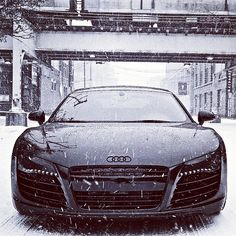 Black and White Audi in Snow HD Wallpaper in Full HD from the Cars category. Tags: Audi Black and White, front view, snow, Winter Audi R8, Audi Quattro, Luxury Sports Cars, Dream Cars, My Dream Car, Sexy Cars, Hot Cars, Classy Cars, Maserati