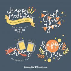 誕生日ラベルコレクション 無料ベクター Birthday Doodle, Happy Birthday Cards, It's Your Birthday, Birthday Wishes, Label Design, Icon Design, Birthday Card Design, Puppy Party, Doodle Designs