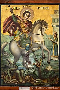 Icon of St George and the Dragon