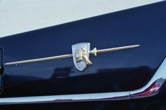 1957 Dodge emblem.  Photography by David E. Nelson
