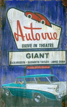 vintage drive in sign