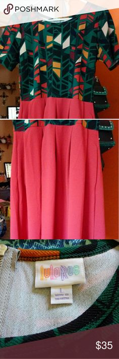 LuLaRoe Amelia dress Brand new. I removed the tags but it has not been washed or worn. LuLaRoe Dresses Midi