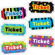 I would use these tickets in my classroom as ways to reward my students for good behavior. They could use these tickets to earn candy, stickers, etc.