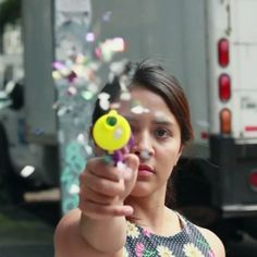 Las Hijas de Violencia, a group of women in Mexico who fight street harassment by firing confetti guns at the harassers and singing punk music. - 17 Badass Women You Probably Didn't Hear About In 2016