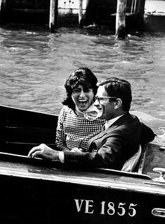 Anna Magnani and Pier Paolo Pasolini,Venice