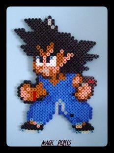 Dragon ball Z  Son Goku hama perler by Alice Tobbi