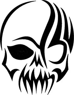 Image detail for -... Skull Decals, Tribal Skull Stickers, Tribal Decals, Tribal Stickers
