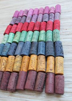 Wine Corks  Rainbow Lot  DIY Craft Supply