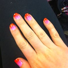 My ombré nails for summer! Done by yours truly!