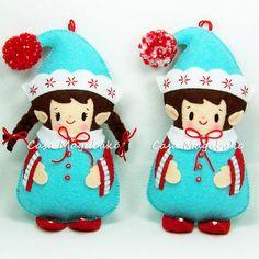 PDF Felt Pattern Elf Ornament Sewing Pattern Christmas