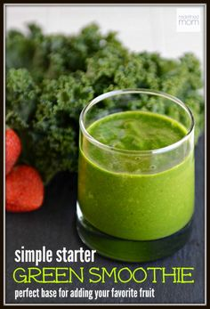 Green smoothies shouldn't taste like lawnmower clippings. This Simple Starter Green Smoothie Recipe is the perfect base smoothie for adding your favorite sweet fruit for an amazing tasting smoothie every time.