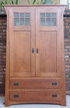 Craftsman armoire | Our Armoire - Craftsman Armoire AMISH made Not really my style, but would go really well with the house