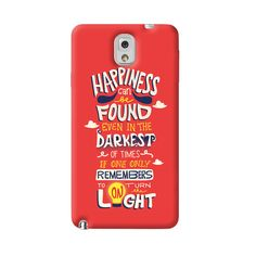 Dumbledore On Happiness Samsung Galaxy Note 3 Case from Cyankart