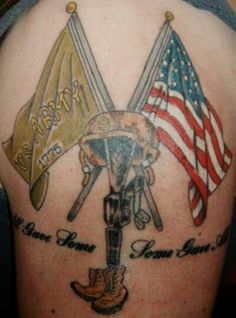 Military tattoos are a sign of their patriotism and love for nation. We can provide you best Military Tattoo Design in various cool patterns and designs. Tattoo 2015, I Tattoo, Tattoo Quotes, Tattoo Pics, Tattoo Flash, Army Tattoos, Military Tattoos, Firefighter Tattoos, Body Art Tattoos