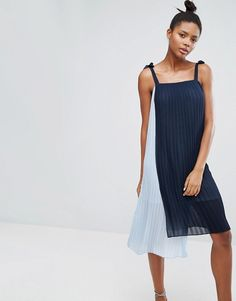 Monki | Monki Plisse Midi Cami Dress
