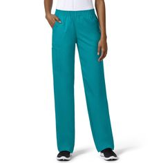 Get the perfect blend of comfort and style when you wear the grace Exclusively at allheart Women's Bootcut Cargo Pull-On Scrub Pant. Details like coverstitching and layered pockets combine with a flattering bootcut leg for a must-have scrub pant. | #scrubs #scrubpants