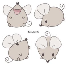 Squeak Mouse by Daieny on DeviantArt Art Drawings For Kids, Animal Drawings, Easy Drawings, House Mouse, Rock Art, Doodle Art, Cute Art, Painted Rocks, Painting & Drawing