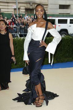 Fashion fan blog from industry supermodels: JOURDAN DUNN at 2017 MET Gala in New York