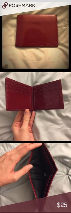 Jacobs by Marc Jacobs patent leather wallet Burgundy patent leather men's wallet from Jacobs by Marc Jacobs. Like new, barely used Marc Jacobs Bags Wallets
