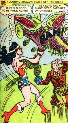 Wonder Woman #32 1948 script by Robert Kanigher, art by H.G. Peter.