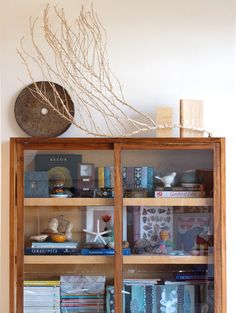 decorating with natural found objects. i love the composition of the layout