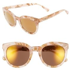 f5ba9acfafb Dolce Gabbana 50mm Round Sunglasses ( 185) ❤ liked on Polyvore featuring  accessories