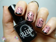 Indie Rose Nail Art #rose #nailart #french #quirk #hagamosnails #indie