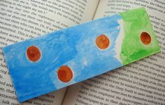 Original Watercolor Abstract Art Bookmark  by ChanelledCreations, $8.00