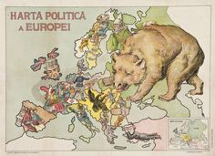 A collection of satirical maps of Europe - Vivid Maps Mad Movies, European Map, Crimean War, Italy Map, Old Maps, Gravure, Cartography, Caricature, Geography