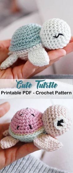 Crochet Simple, Crochet Diy, Crochet Amigurumi Free Patterns, Crochet Animal Patterns, Stuffed Animal Patterns, Crochet Dolls, Crochet Turtle Pattern Free, Free Crochet Patterns For Beginners, Crochet Stuffed Animals