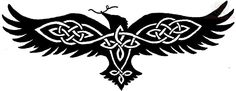 "Raven. Could each have one or a pair: twin ravens Huginn (""thought"") and Muninn (""memory"")"