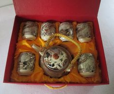 Tea Set in Original Gift Box Vintage Mid Century by HobbitHouse