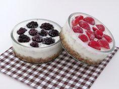 Ovocno jogurtové koláčiky Cheesecake, Cooking, Desserts, Food, Kitchen, Tailgate Desserts, Deserts, Cheese Cakes, Eten