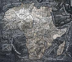 Paula Scher, Africa, 2003. Acrylic on canvas.  www.paulaschermaps.com