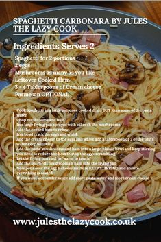 1 Joint of Gammon 3 Different Meals – Jules The Lazy Cook Quick Easy Meals, Easy Dinner Recipes, Pasta Recipes, Easy Dinners, Slow Cooker Recipes, Cooking Recipes, Healthy Recipes, Creamy Pasta Dishes, How To Cook Ham