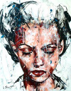 Lucile Callegari / T168 / Acrylique et fusain sur toile, 92x73cm, 2014.