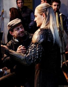 The Hobbit: Andy Serkis and Orlando Bloom