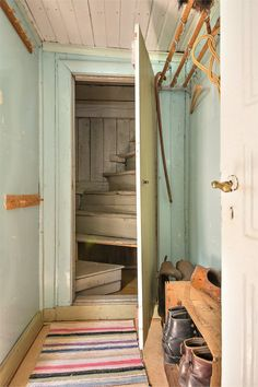 mudroom and stairs