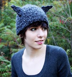 Wolf Hat Wolf Beanie Crochet Wolf Hat Grey Hat by talk2thetrees