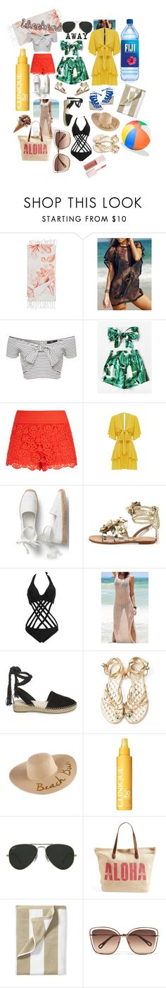 """Weekend away"" by sheri-govender ❤ liked on Polyvore featuring Marinette Saint-Tropez, WithChic, City Chic, Tory Burch, Steve Madden, Chanel, SONOMA Goods for Life, Clinique, Ray-Ban and Rip Curl"