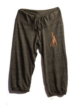 long winded Giraffe Pants, Capris, Yoga Pants, Pajamas, S,M,L,XL on Etsy, $26.00