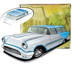 HOT ROD ART • Also from 2007, another phantom Olds sport wagon...