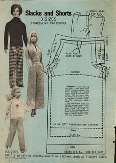 Enid Gilchrist's Dolls Clothes - Pants Pattern for Ken, Barbie & Skipper