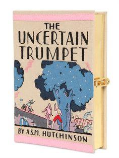 "OLYMPIA LE-TAN - ""THE UNCERTAIN TRUMPET"" BUCHCLUTCH AUS BAUMWOLLE"