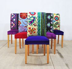 Hey, I found this really awesome Etsy listing at https://www.etsy.com/listing/510217020/6-x-suzani-dining-chairs