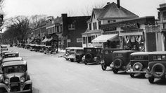 Downtown Hyannis in May 1934, waiting for the summer crush of tourists.