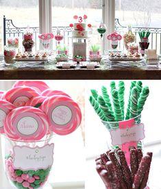 Whimsical Lollipop Inspired Dessert Table